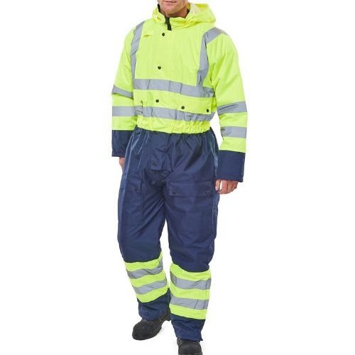 BSeen Two Tone Hi Vis Thermal Waterproof Coverall